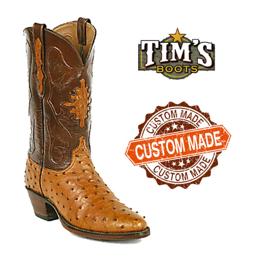 Black Jack Custom Custom Ostrich Cowboy Boots Full Quill