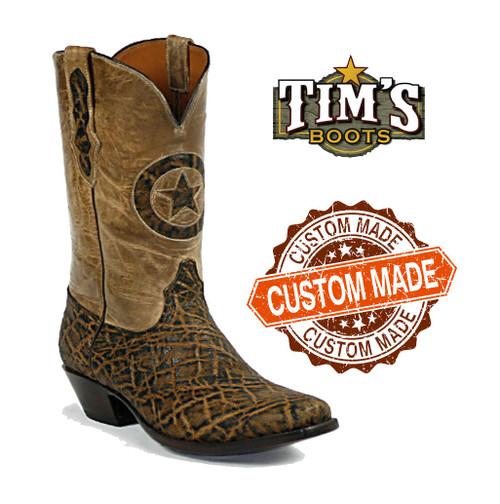 Black Jack Custom Custom Elephant Cowboy Boots