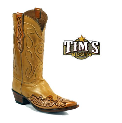 Black Jack Boots Hand Tooled Cowboy Boots - HT1439