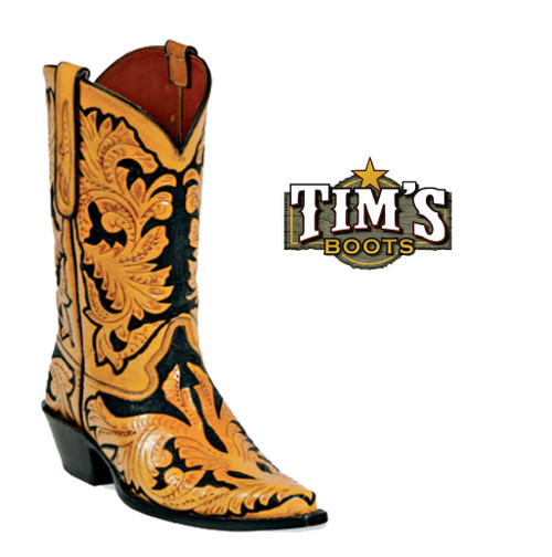 Black Jack Boots Black Jack Full Hand Tooled Boots - Style HT10