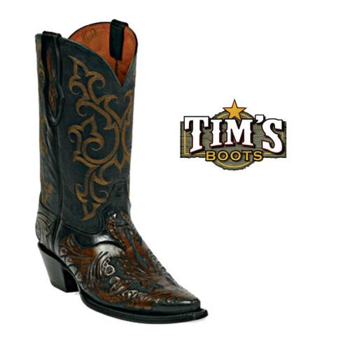 Black Jack Boots Hand Tooled Cowboy Boots - HT12