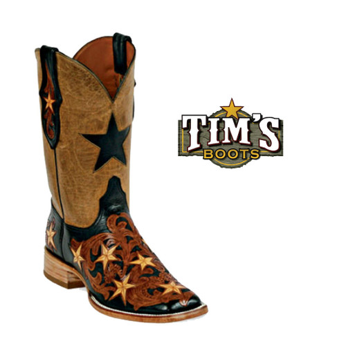 Black Jack Boots Hand Tooled Boots - Style HT16a