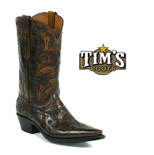 Black Jack Boots Black Jack Full Hand Tooled Boots - Style HT44