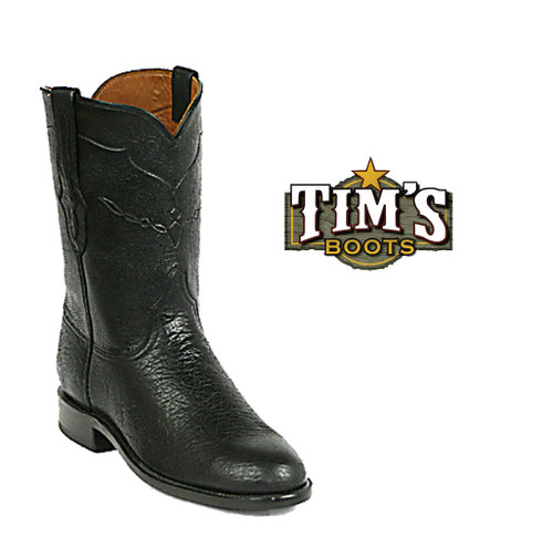 Black Jack Boots Shark Skin Roper Boots - Made in America