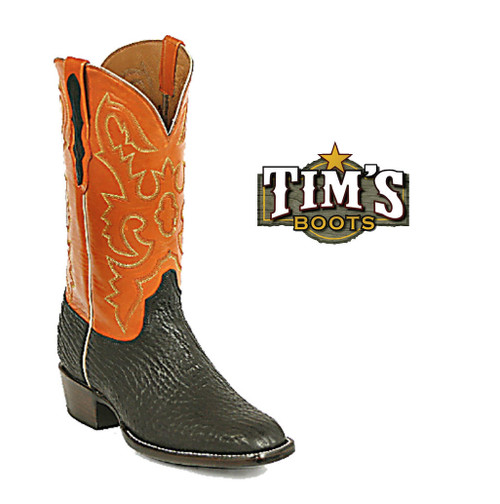 Black Jack Boots Shark Skin Cowboy Boots - Made in America by Black Jack
