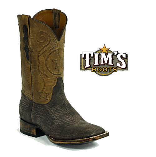 Black Jack Boots Sharkskin Cowboy Boots - Made in America by Black Jack
