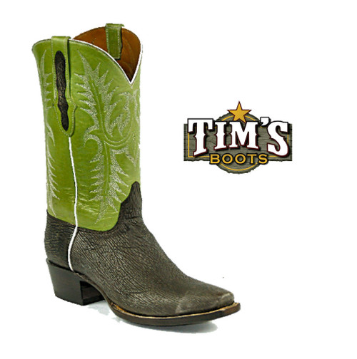 Black Jack Boots Sanded Sharkskin Boots - Made in America from Tims Boots