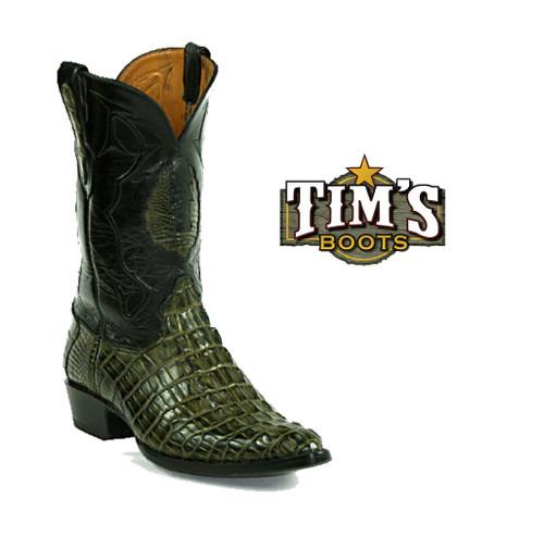 Black Jack Boots Black Jack American Alligator Reverse Tail Cowboy Boots