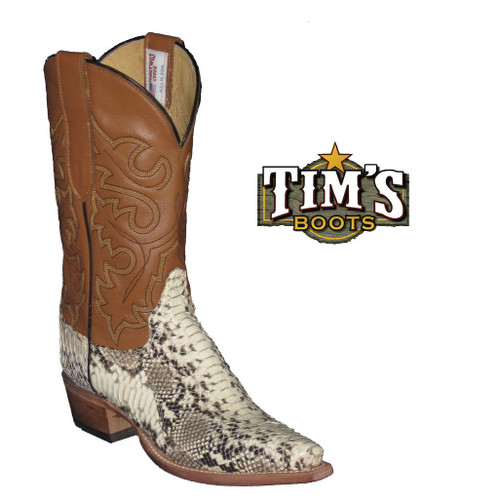 Cowtown Boots Womens Python Boots - Snip Toe