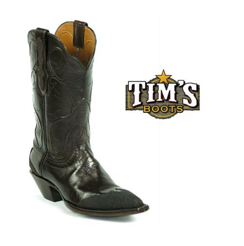 Black Jack Boots Black Jack Goat Boots with Stingray Wingtip