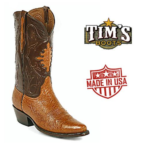 Black Jack Ostrich Cowboy BootsSmooth