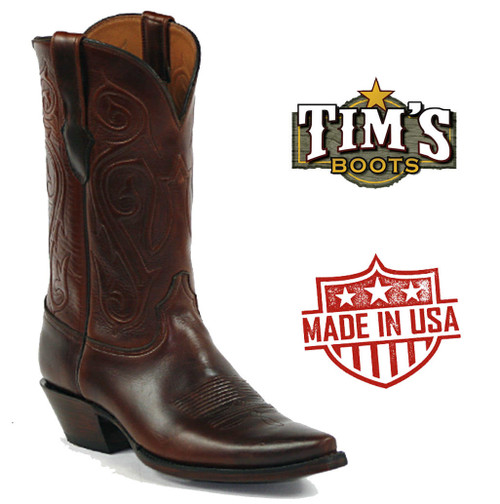 Black Jack Excell Sombra Cowboy Boots Oiled Calf