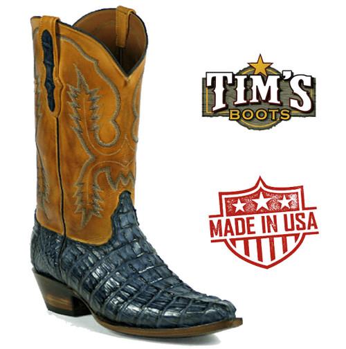 Black Jack Caiman Hornback Cowboy Boots7147