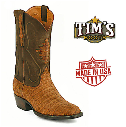 Black Jack Sueded Caiman Belly Cowboy Boots