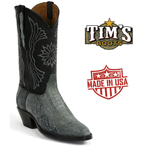 Black Jack Ostrich Leg Cowboy Boots