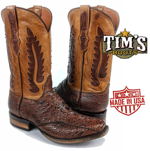 Black Jack Snapping Turtle Tail Cowboy Boots