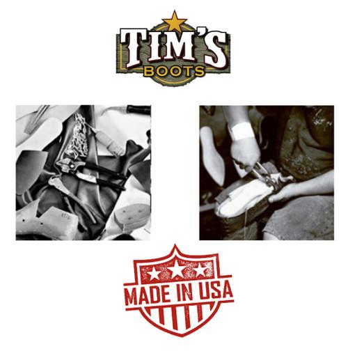 Black Jack Boots Black Jack Caiman Belly with Custom Tooled Shaft