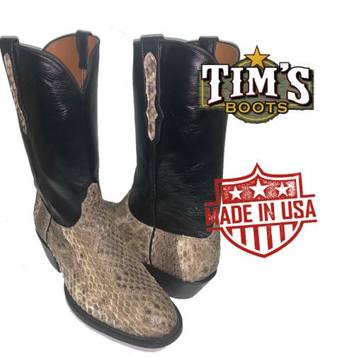 Black Jack Western Diamondback Rattlesnake Boots size 11EE Clearence