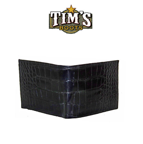 Tims Boots Alligator Belly Wallet - Black