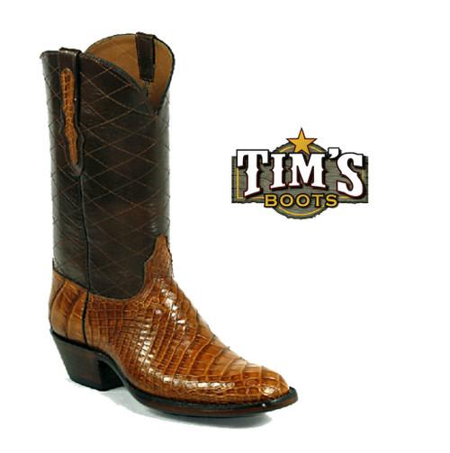 Black Jack Boots American Alligator Belly Cowboy Boots side cut