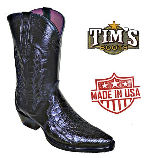 Black Jack Boots Caiman Flank Triad Cowboy Boots