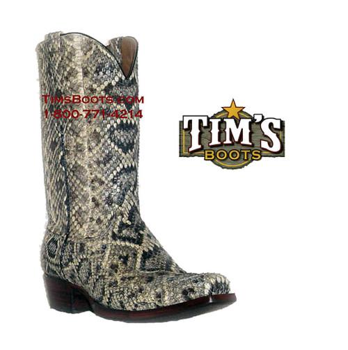 Black Jack Boots Full Rattlesnake Cowboy Boots - El Patron