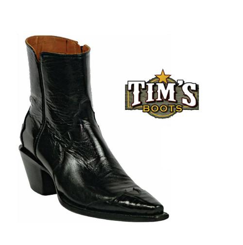 Black Jack Boots Black Jack Goat Zipper Boots with Alligator wing tip