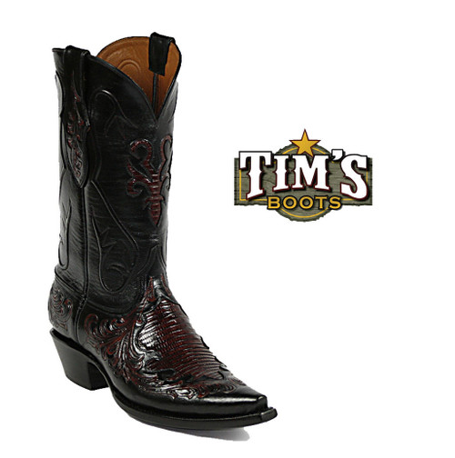 Black Jack Boots Hand Tooled Cowboy Boots - HT101
