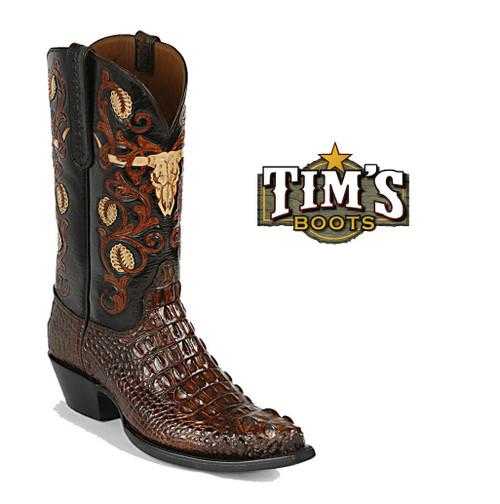 Black Jack Boots Black Jack Hand Tooled Longhorn Cowboy Boots HT152