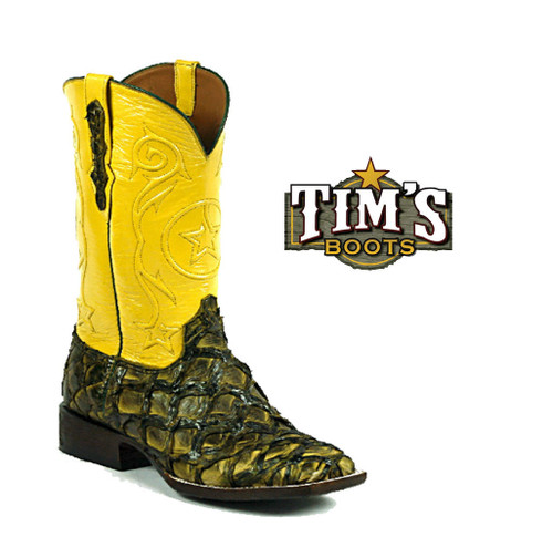 Black Jack Boots Pirarucu Boots Inverted Scales