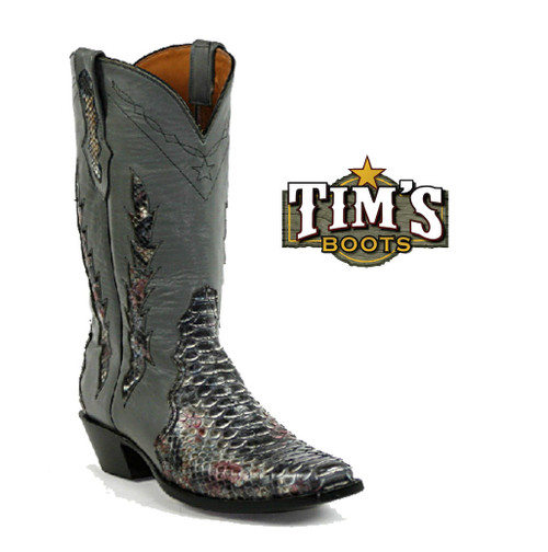 Multi-Colored Python Triad Cowboy Boots