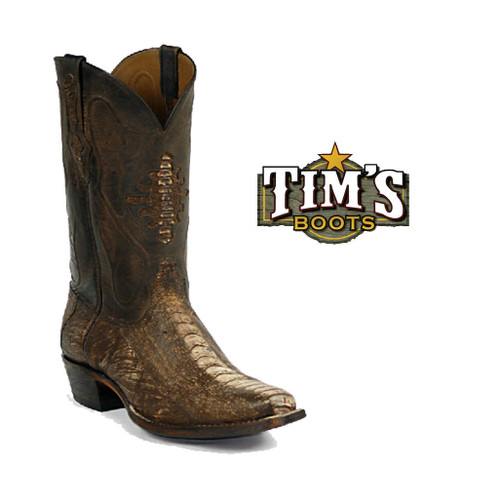 Black Jack Boots Ostrich Leg Cowboy Boots