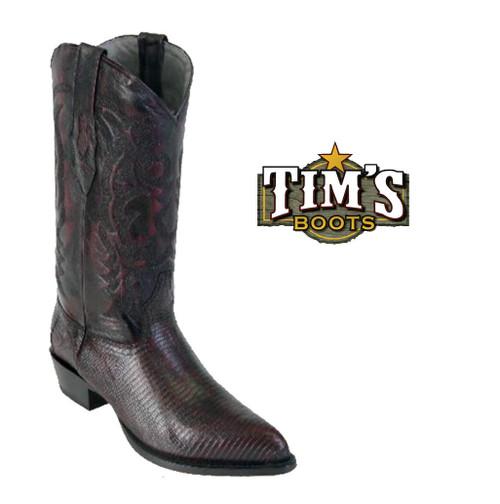 Los Altos Boots Ring Lizard Cowboy Boots J Toe