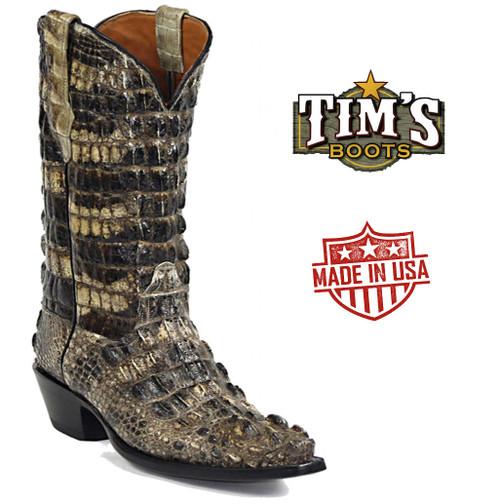 Black Jack Natural Alligator El Patron Cowboy Boots