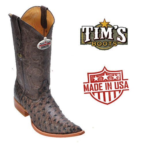 Los Altos Boots Los Altos Mens 3X toe Ostrich Cowboy Boots