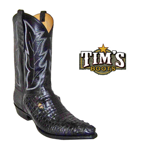 Tims Boots Caiman Crocodile Boots w/ eyes