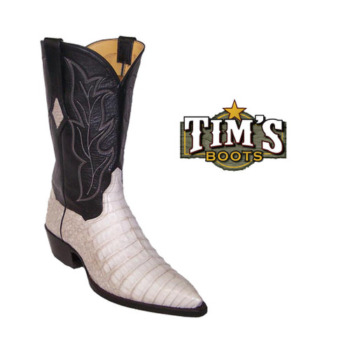 Tims Boots Caiman Crocodile Belly Cowboy Boots by Timsboots