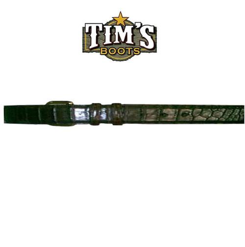 Cowtown Boots Alligator Belly Cut Belt