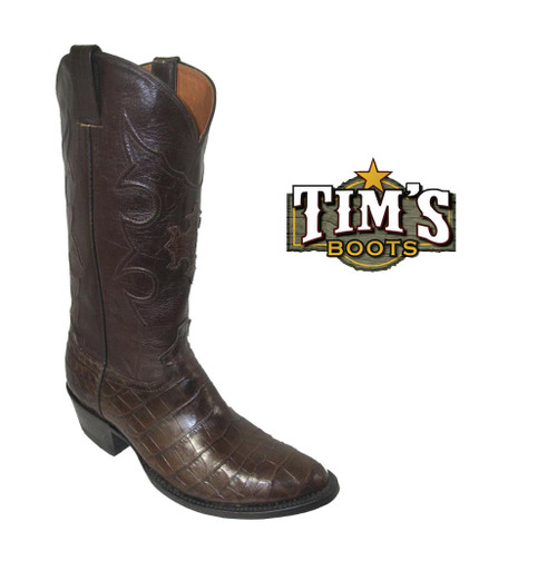 Cowtown Boots Alligator Belly Boots w/ Free Matching Belt