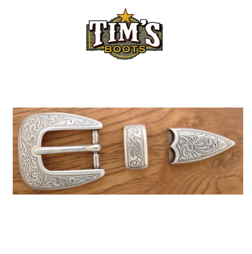 Tims Boots Engraved Ranger Buckle Set 5527