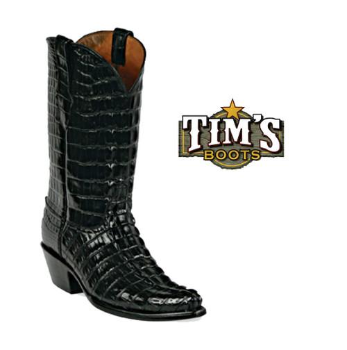 Black Jack Boots Black Jack Full Alligator Tail Cut Cowboy Boots