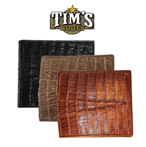 Star Boots Genuine Caiman Crocodile Tail Cut Wallet