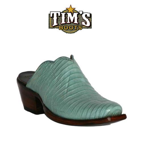 Black Jack Boots Lizard Mule Shoes