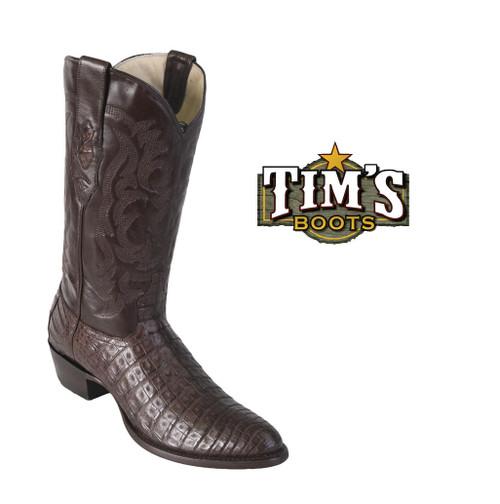 Los Altos Boots Caiman Belly Cowboy Boots - round toe