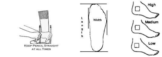 Boot Sizing Information