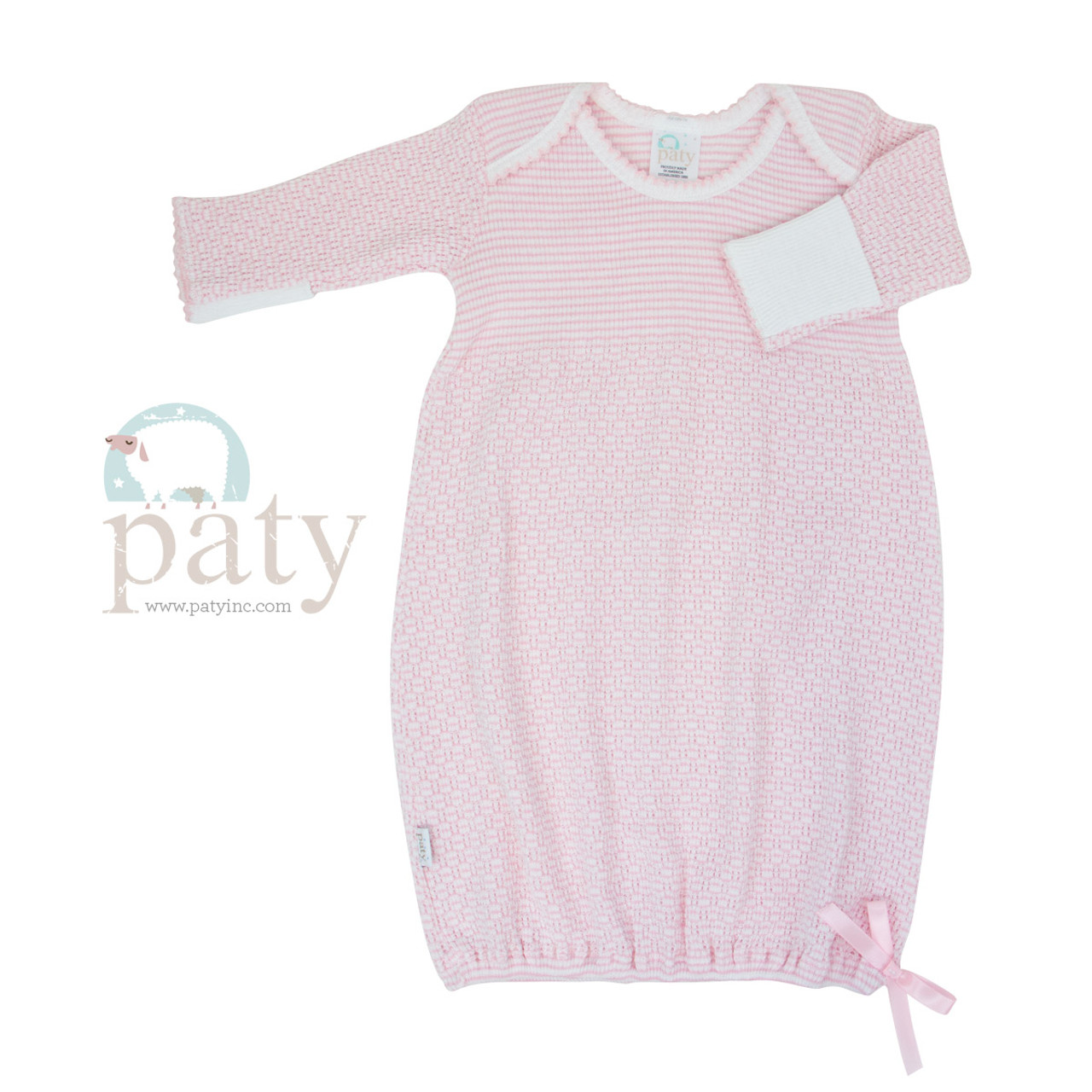 Monogrammed Baby Gown for Boys Circle Monogram Gown and Hat Gingham Sibling Matching