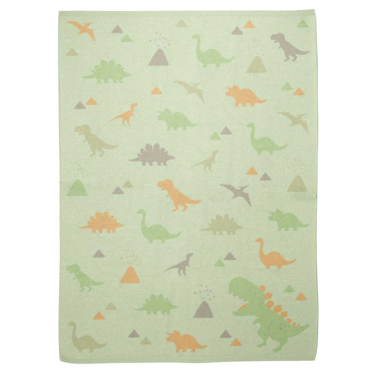 Knit Baby Blanket Dino