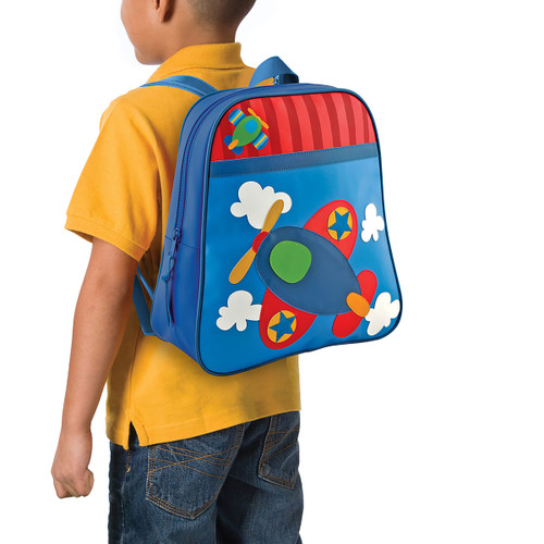 Stephen Joseph Personalized Airplane Backpack for Boys