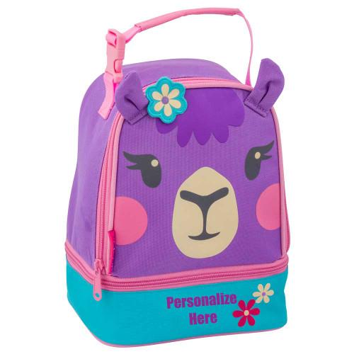 Stephen Joseph Personalized Llama Lunch Bag for little girls