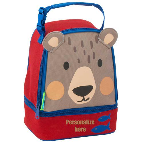 Stephen Joseph Personalized Bear Lunch Bag perfect for Kindergarten